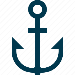 anchor, boat, link, sea, ship, travel icon