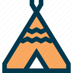 camp, camping, teepee, tent, travel icon