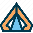 camp, camping, hiking, tent, travel icon
