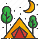 camping, tent, outdoor, tree, adventure, travel