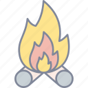 bonfire, fire, flame, campfire