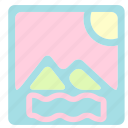 holiday, picture, summer, travel, vacation icon
