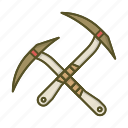 alpine, alpinism, axe, climbing, mountain, tool icon