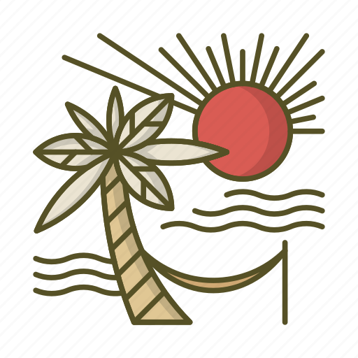 Beach, hammock, heaven, palm, summer, sun, vacation icon - Download on Iconfinder