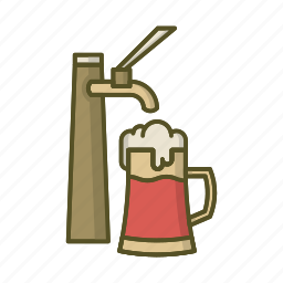 alcohol, beer, beverage, cup, drink, festival, octoberfest icon