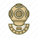 diver, diving, scuba, suit, swimming, water icon