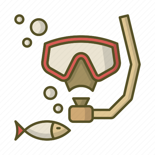 diver, diving, fish, mask, snorkel icon