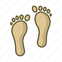 beach, foot, footprint, footprints, step, track icon