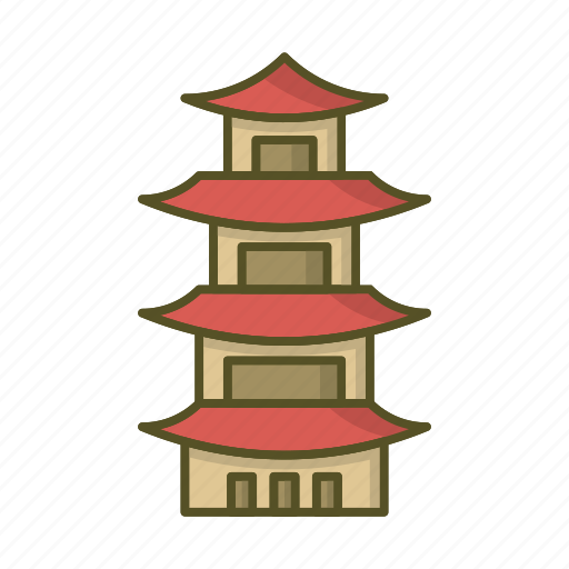 Building, china, chinese, pagoda, shrine, temple icon - Download on Iconfinder