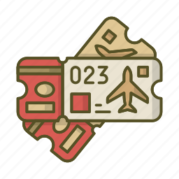 pass, plane, ticket, tickets, travel icon