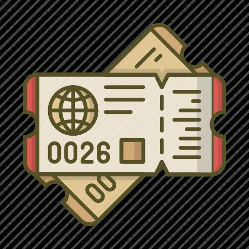 globe, pass, plane, ticket, tickets, travel icon