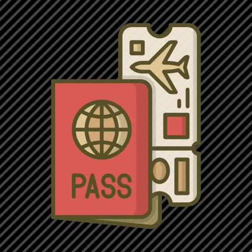Pasport, pass, plane, ticket, tickets, travel icon - Download on Iconfinder