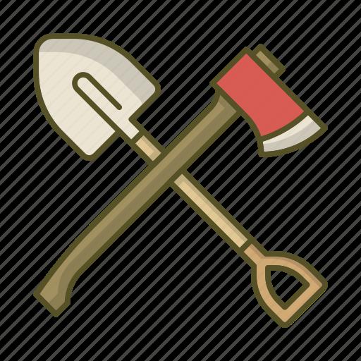axe, shovel, tool, tools icon