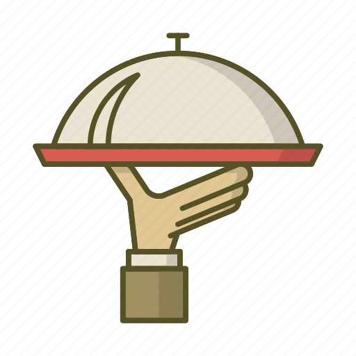 dish, garcon, salver, tray, waiter icon