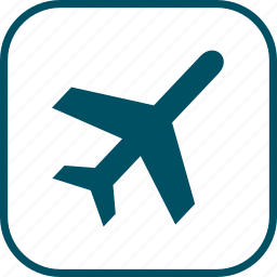 airplane, card, tourism, transport, travel, vacation icon