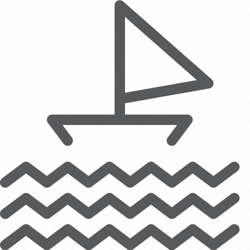 boat, float, ocean, sail, sea, travel, vacation icon