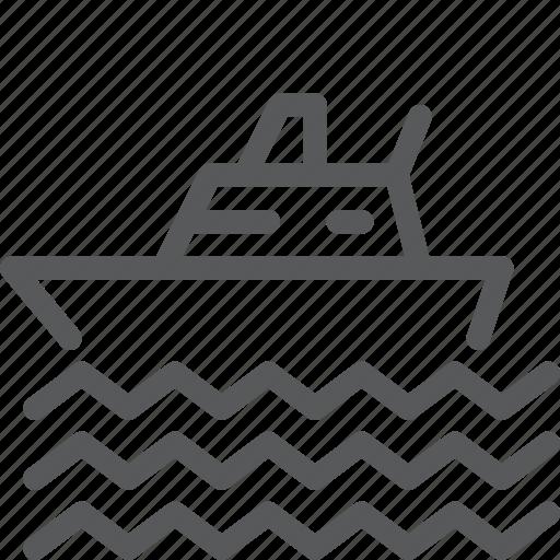 ferry, float, ocean, sea, ship, travel, vacation icon