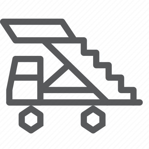 delivery, plane, service, stair, transport, travel, truck, vehicle icon