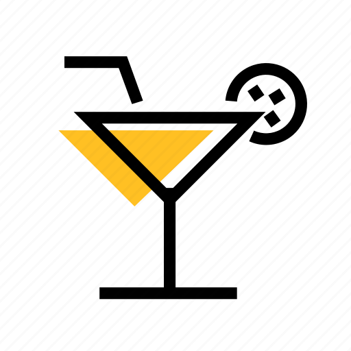 alcohol, cocktail, cocktail icon, glass, glass icon, grid, lemon icon
