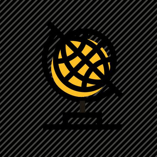 education, global, globe, globe icon, grid, map, travel icon icon