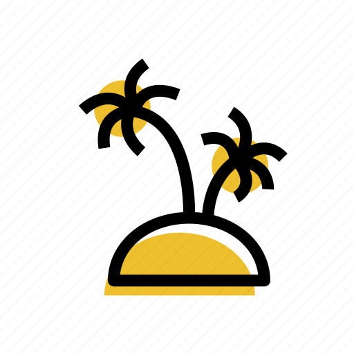 grid, iland, island, island icon, palms, travel, travel icon icon