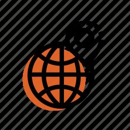 grid, location, marker, point icon, world, world icon icon