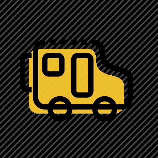 bus, car, grid, minibus, transport, travel car, travel icon icon