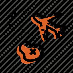grid, iland, map, plane, plane icon, point, target icon