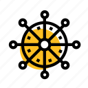 boat, grid, handwheel, sea, sea boat, steering, wheel icon