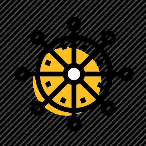 boat, grid, handwheel, sea, sea boat, steering, wheel icon