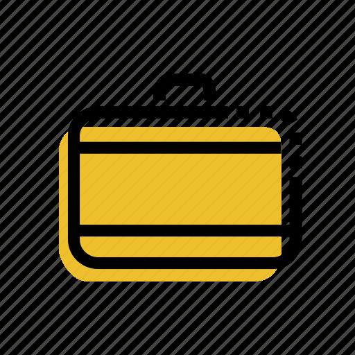 bag, bagpack, briefcase, grid, school bag, suitcase, travel icon icon