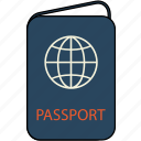 airplane, celebration, holiday, passport, plane, travel, vacation icon