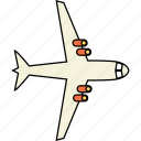 air, fly, plane, transport, transportation, travel, vacation icon