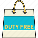 bag, business, buy, duty, shopping, travel icon