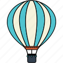 air, balloon, fly, holiday, transport, transportation, travel icon