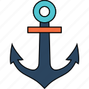 anchor, boat, road, ship, transport, transportation, travel icon