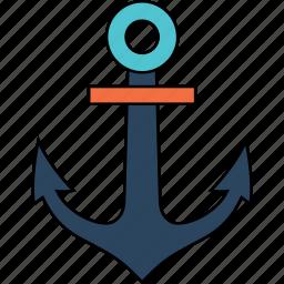 anchor, boat, road, ship, transport, transportation, travel icon
