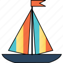 beach, holiday, sea, ship, thuyền, travel, vacation icon