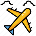 aircraft, airplane, plane, traveling, vehicle icon