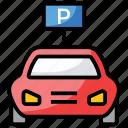 car garage, car park, car parking, garage, parking, parking garage icon