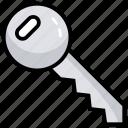 access key, key, key chain, lock, master key icon