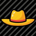 beach hat, cap, hat, headwear, top hat icon