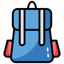 backpack, bag, luggage, tourist bag, travel bag icon