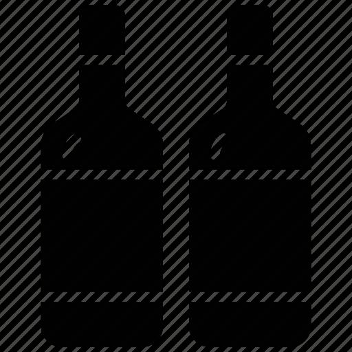 alcohol, alcoholic beverage, alcoholic drinks, beer bottles, wine bottles icon