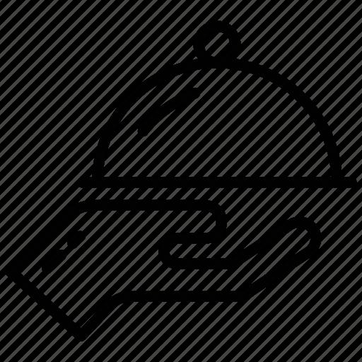 cloche, cloche lid, kitchen set, lid, lid cover icon