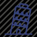 italy, pisa, tower