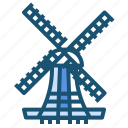 agriculture, farm, windmill icon