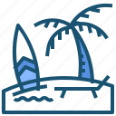 beach, holiday, umbrella, vacation icon