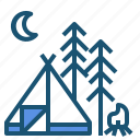 camping, campsite, tent, travel icon