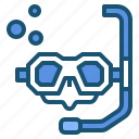 equipment, glasses, scuba icon